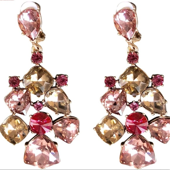 8cd2b8b6e Oscar de la Renta Jewelry | Pink Gold Signed Clip Earrings | Poshmark